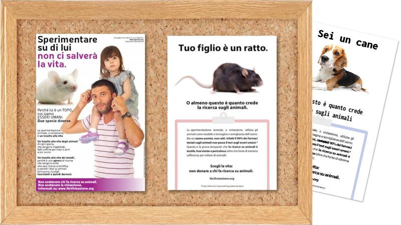 Locandine su argomento Vivisezione
