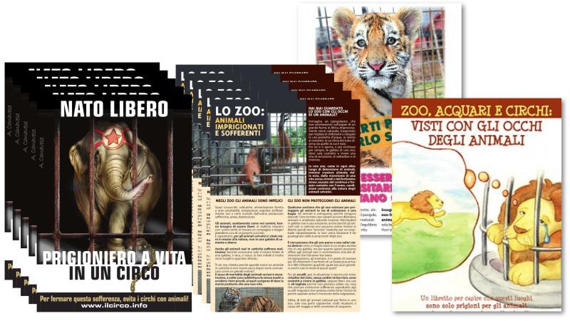 Opuscoli, pieghevoli, volantini su argomento Circhi e zoo