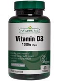 Vitamina D3 Natures Aid, in compresse, 1000 UI