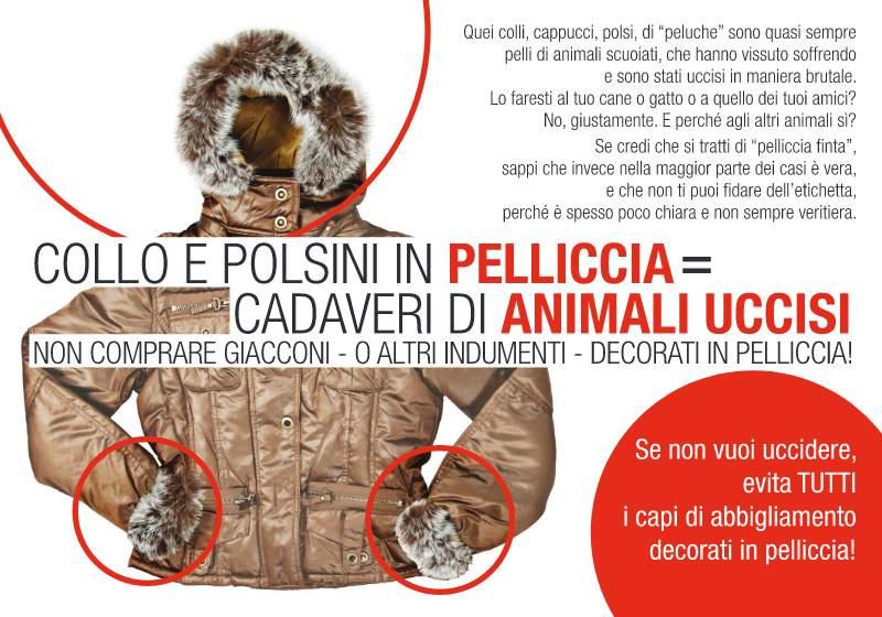 Collo e polsini in pelliccia = cadaveri di animali uccisi [AgireOra  Edizioni]