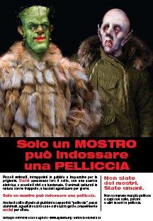 Locandina 'Solo un mostro può indossare una pelliccia'