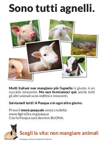 Locandina Sono tutti agnelli (collage)