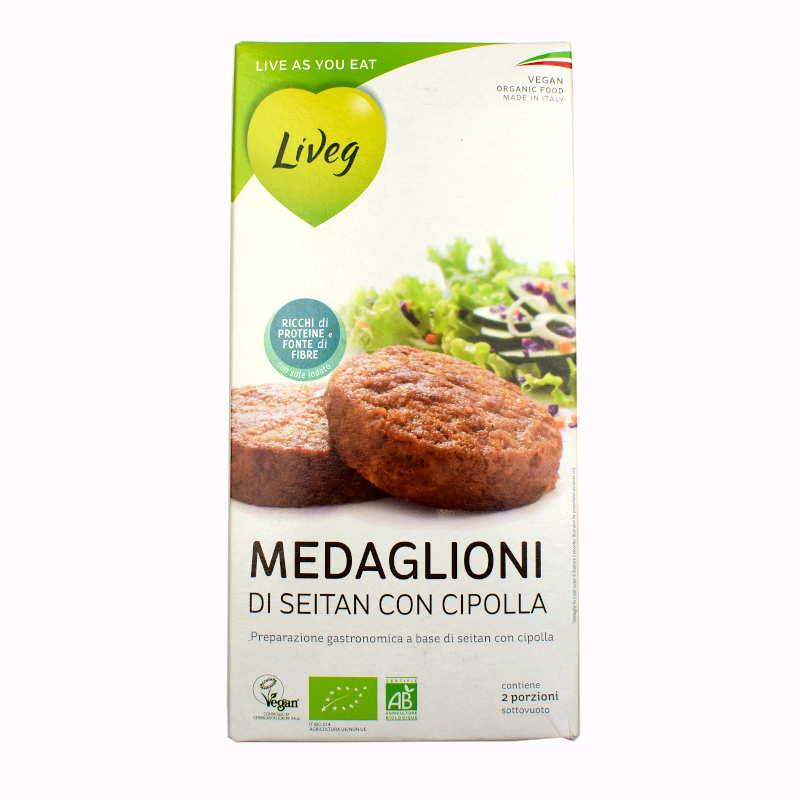 Medaglioni di seitan con cipolla (Liveg)